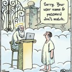 Getting to heaven cartoon